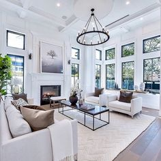 50 Excellent Formal Living Room Decor Ideas And Remodel – Decoration ideas Coastal Living Rooms, Formal Living Rooms, Interior Design Living Room, Home And Living, Living Room Designs, Small Living, Modern Living, Hamptons Living Room, Living Room Furniture