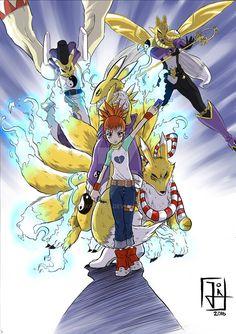 Rika and Renamon by Jokcomics on DeviantArt Anime Manga, Anime Art, Digimon Adventure 02, Animated Cartoon Characters, Digimon Frontier, Digimon Tamers, Digimon Digital Monsters, Humanoid Creatures, Yiff Furry