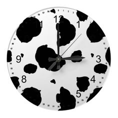 You - Animal Print, Cow Spots - Black White Classic Round Sticker Cow Print WallclockCow Print Wallclock Cow Kitchen Decor, Cow Decor, Kitchen Themes, Kitchen Ideas, Cow House, Cow Outfits, Cow Pattern, Cute Cows, Cow Art