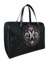 A big shoulder travel bag NEW FOLK (coloured embroidery)