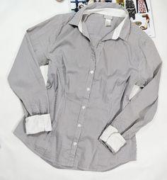 Bluzka Koszulowa do Pracy w Pasy H&M r.40