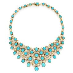 les must de Cartier / 1950s Turquoise and Diamond Necklace, Cartier ❤ liked on Polyvore