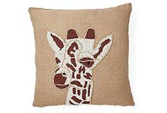 Kenya Firagge Head Jute Pillow - Ivory