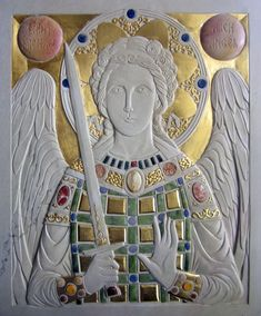 opus sectile icon - http://www.orthodoxartsjournal.org/an-opus-sectile-icon/