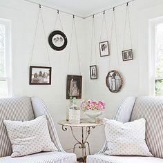 Hoy te proponemos decorar las esquinas de tus paredes... lograrás un detalle original y que siempre atraiga la atención...