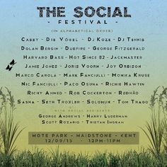 The Social 2015 line-up