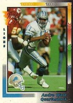1992 Wild Card #282 Andre Ware  - Detroit Lions.