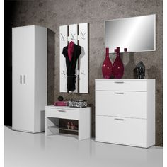 Centro White Hallway Furniture Setting