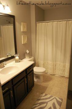 S Bath Gets Budget Redo Bathroom Updates Bathroom And Before - Zebra bath mat for bathroom decorating ideas