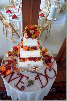 Love this for fall wedding with different color flowers though.
