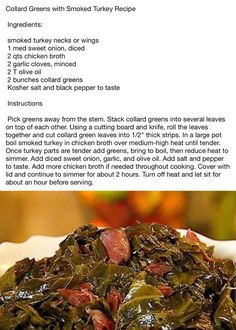 Collard greens are a staple in soul food, but they can also be used in soups or to top off a biscuit. Check out our best collard greens recipes. Collard Greens With Smoked Turkey Recipe, Best Collard Greens Recipe, Southern Collard Greens, Mustard Greens Recipe Southern, Crockpot Collard Greens, Turkey Recipes, Vegetable Recipes, Veggie Food, Kale Recipes