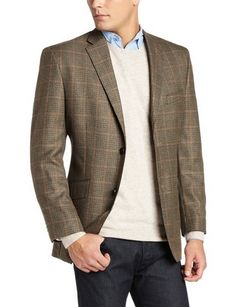 awesome Men's Houndstooth Windowpane Blazer - For Sale