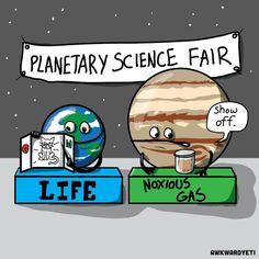 Funny Comics from Awkward Yeti - Snappy Pixels Science Cartoons, Science Jokes, Science Fair, Chemistry Jokes, Biology Humor, Grammar Humor, Math Humor, Teacher Posters, Teacher Memes