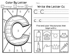 Your students will love to do this alphabet fun worksheet.   This page includes: color by letter, write the letter Cc and find and color the pictures that begin with c.  Make sure to check out my complete set of Alphabet Fun Worksheets.:)CCSS.ELA-Literacy.RF.K.1d Recognize and name all upper- and lowercase letters of the alphabet.CCSS.ELA-Literacy.RF.K.3a Demonstrate basic knowledge of one-to-one letter-sound correspondences by producing the primary sound or many of the most frequent sounds…