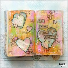 Hi everyone,back withanother Art Journal page. My inspiration for this page is my family... my husband, my boys and ourdog.They truly do...