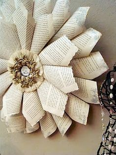 Book Page Christmas Wreath