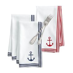 Graphic Beachport Striped Napkins