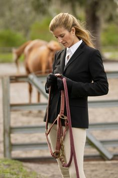 equestrian fashion | ... poses for a portrait during a fashion shoot at the Brookemore Farms