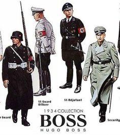 Photo : Dès 1931, Hugo Ferdinand Boss adhère au parti nazi et contribue à la production des uniformes militaires.