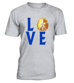 4773e7709fef LOVE text with Sand Dollar T-Shirt . Special Offer, not available in