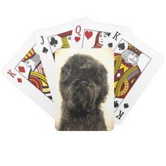 Vintage Affenpinscher Playing Cards