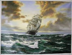 seascape oil painting (30*40inch) - China angel oil painting art co.;ltd;oil paintings;picture frame, Angel
