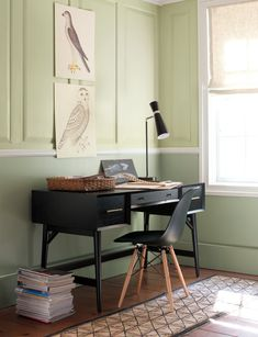 Learn how to select the best green paint colors for your home's interior and exterior projects. Understand the green color palette and get ideas on how to use green paint for your walls, ceiling, trim, doors, and more. Green Paint Colors, Green Colour Palette, Grey Painted Walls, Interior And Exterior, Interior Design, Urban Nature, Home Office Decor, Home Decor, Office Ideas