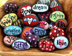 9 beautiful ways to paint a rock