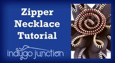 Watch Amy Barickman's new Zipper Necklace Tutorial and learn how to make a fun piece of jewelry using upcycled zippers!