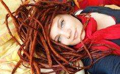 I really wanna dread my hair. I really wanna dread my hair. Red Dreads, Dreadlocks Girl, White Dreads, Rasta Girl, Natural Dreads, Beautiful Dreadlocks, Hippie Hair, Dreads Styles, Natural Hair Styles