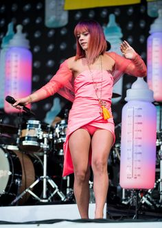 'Lily The Pink' Lily Allen performance day 2 at Glastonbury 27th July 2014