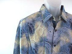 042643f0 Details about Nat Nast Mens 15.5 White Blue L/S Striped Dress Shirt 100%  Cotton