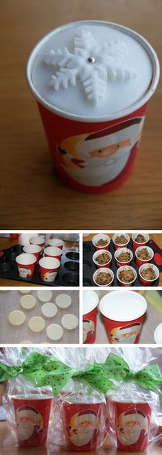 Christmas cupcake cups