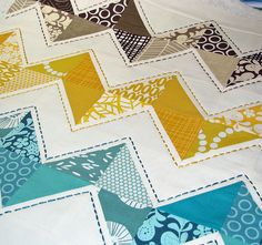 More great zig zag quilting.