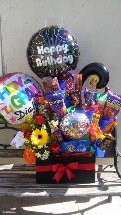 Birthday Box, Pink Birthday, Birthday Gifts, Happy Birthday, Diy Craft Projects, Diy Crafts, Chocolate Gift Boxes, Gift Packaging, Boyfriend Gifts
