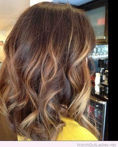 Balayage On Dark Brown Hair: Shoulder Length – Watch out Ladies