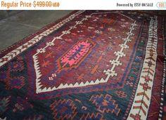 40% OFF SALE Antique Kazak Rug by TEKKARUG on Etsy