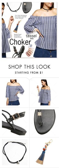 tassel and choker by paculi on Polyvore featuring Tory Burch