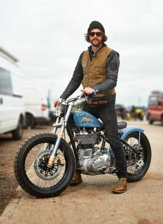 Beauty blue  Corb Motorcycles