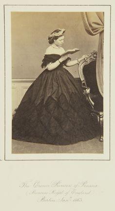 The Crown Princess of Prussia (Princess Royal of England), Berlin, January 1863 - I love this dress!
