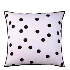 Taie d'oreiller ou de traversin coton imprimé NOCTURNES. Nuée douce de flocons de nuit.. Ce bel imprimé NOCTURNES vous assure un sommeil paisible.