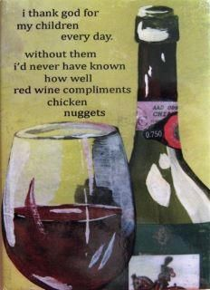 Chicken mcnuggets and vino