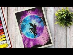 At this Time I will show you a Videos How to draw Fairy at Moonlight Scenery With Oil Pastel step by Step. How to draw for beginners. Oil Pastel Drawings Easy, Pastel Artwork, Oil Pastel Paintings, Oil Pastel Art, Fairy Drawings, Disney Drawings, Cool Drawings, Pencil Drawings, Oil Pastel Techniques