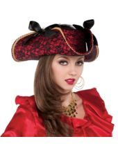 Lace Pirate Hat - Party City