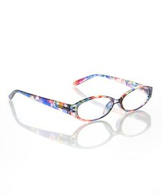 Look what I found on #zulily! Blue Floral Readers #zulilyfinds