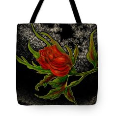 Rose Tote Bag featuring the painting Wild Rose by Faye Anastasopoulou Thing 1, Poplin Fabric, Bag Sale, Tote Bags, Rose, Prints, Painting, Collection, Black