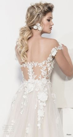 "persy couture 2019 bridal cap sleeves sweetheart neckline heavily embellished bodice romantic champagne soft a line wedding dress chapel train zbv dresses romantic champagne Persy Couture 2019 Wedding Dresses — ""Affaire de Fleurs"" Bridal Collection Colored Wedding Dresses, Dream Wedding Dresses, Bridal Dresses, Wedding Gowns, Cheap Wedding Dresses Online, Dream Dress, Bridal Collection, Marie, Chapel Train"