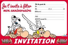 Invitation avec Astérix, Obélix et Idéfix | 123 cartes