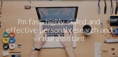 be your Virtual Assistant, Web Researcher, Data Entry Expert by hamna93