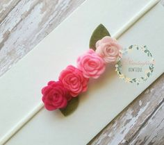 Check out this item in my Etsy shop https://www.etsy.com/listing/294346001/pink-ombre-felt-headband-baby-headbands